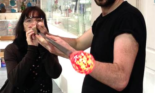 Glass blowing bauble blowing activities in Bath great things to do in Bath