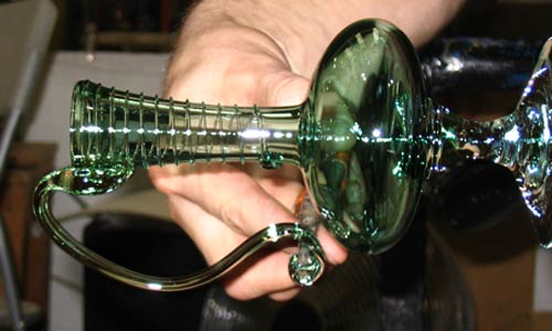 Watch glass blowing daily in Bath click button