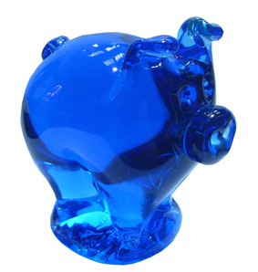 Unique handmade wedding gifts - Aqua King Bladud's Piglet Paperweight, a perfect wedding present!