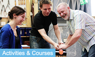 Glass Blowing Activities and Courses in Bath click button