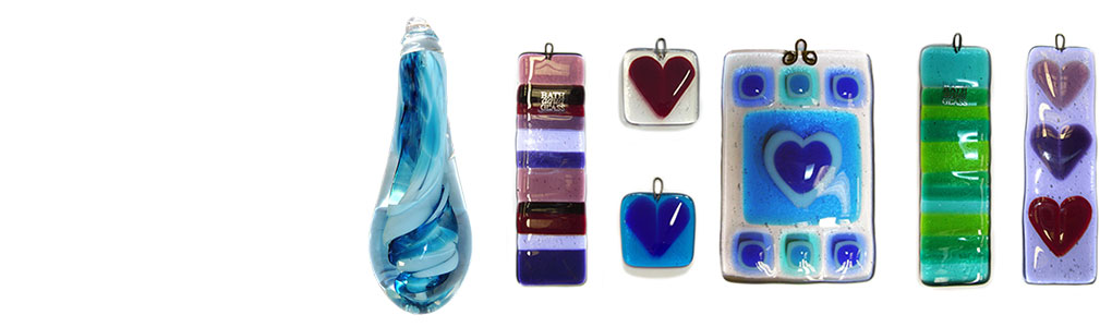 Glass Window Hangings and Glass Light Pulls