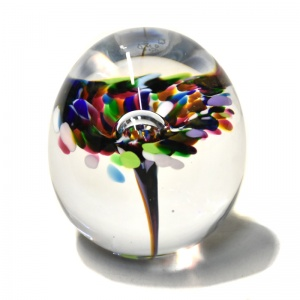 Small Multicoloured Flower Paperweight