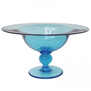 Glass Footed Centre Dish