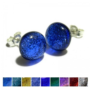 Dichroic Stud Earrings