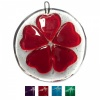 Fused Glass Round Heart Hanging