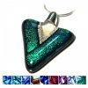 Ashes into Jewellery - Dichroic Triangle Pendant