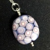 Dotty Purple & White Pendant