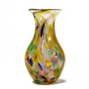 Medium Art Glass Vase Multicoloured