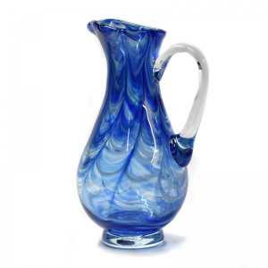Art Glass Jug Cobalt