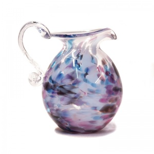 Small Round Art Glass Jug