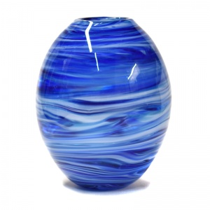 Large Art Glass ''Vélo'' Vase