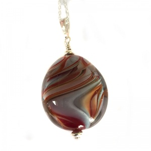 Autumn Flaming Bead Pendant