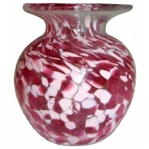 Small Round Art Glass Vases