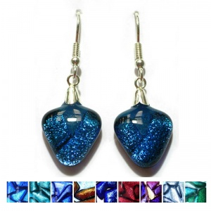 Dichroic Triangle Earrings