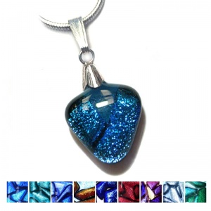 Small Dichroic Triangle Pendant