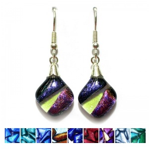 Dichroic Stripe Earrings