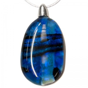 Deep Blue Aura Pendants