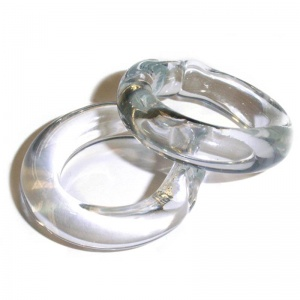 Glass Swedish Blind Rings - One Pair