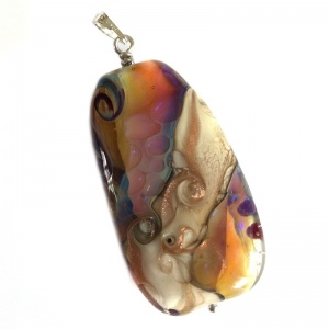 Sunset Sea - Double Helix Long Pendant