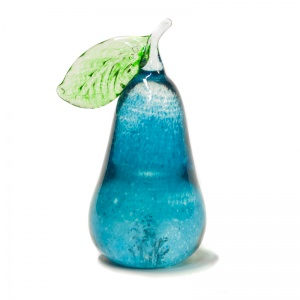 Small Decorative Glass Pear