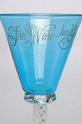 Engraved wine glass example