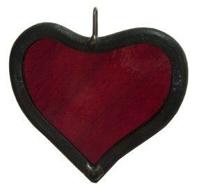 Stained Glass Hanging Heart