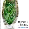 Stunning green art glass vase