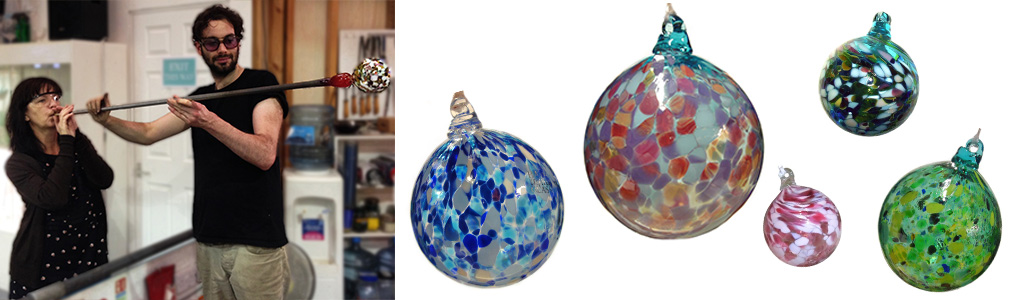 Hen Party Ideas For Bath England Bauble Blowing With Our Hunky Glassblowers