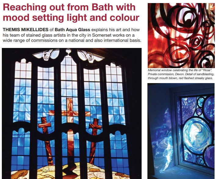 Stained Glass Glazier article
