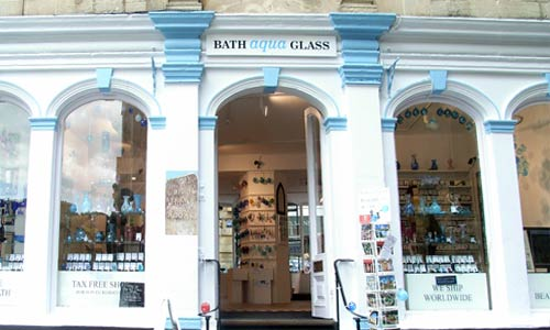 Bath aqua glass Shop and Studio Opening Hours 7days a week 9.30 to 6