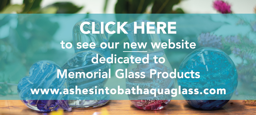 Ashes into Bath Aqua Glass