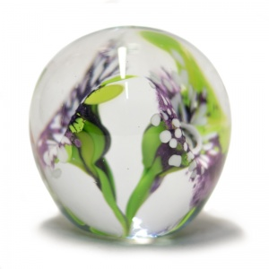 Large Double Flower Paperweight