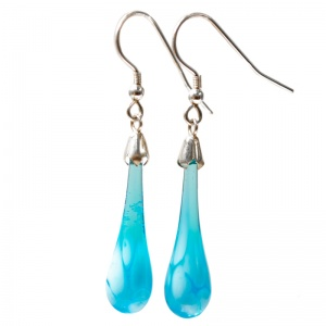 Dappled Molten Drop Earrings