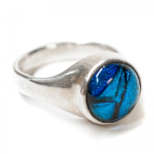 Ashes into Jewellery - Silver & Dichroic Glass Signet Ring