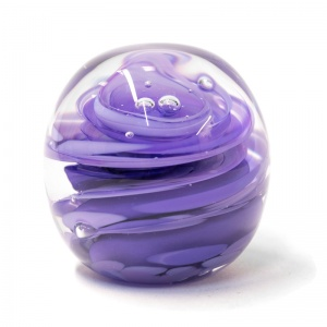 Medium Lavender Swirl Paperweight