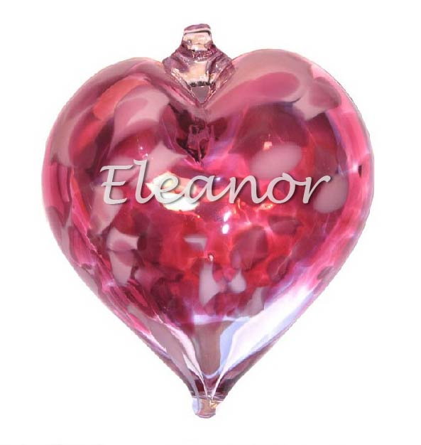 Personalised glass baubles Engraved Hearts
