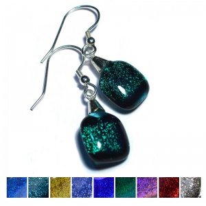 Dichroic Hook Earrings