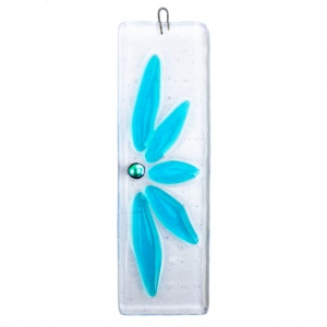 Half Flower Fused Glass Hanging