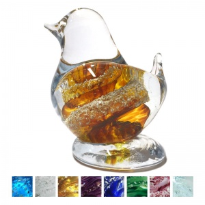 Cremation Ashes Glass - Ashes Glass Bird