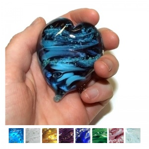 Cremation Ashes Glass Handheld Memory Heart