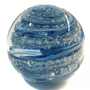 Cremation Ashes Glass Paperweights
