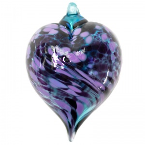 Blown Glass Handmade Mini Heart Baubles