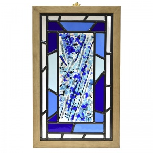 Cremation Ashes Glass - Stained Glass Panel