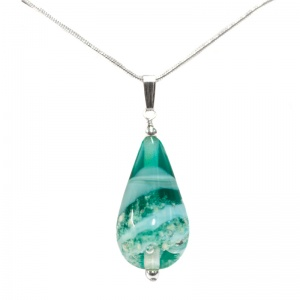 Ashes in Jewellery - Ashes Glass Drop Pendant