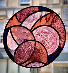Stained glass roundels hand blown