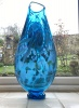 Large Bath aqua glass art Vase