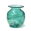 Teal Art Glass Posy Vase