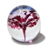 Small Cranberry Flower Paperweight
