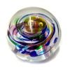 Hand made paperweight multi coloured