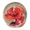 Paperweight orange flower swirl one off